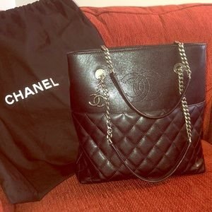 Authentic NWT Chanel small shopping tote